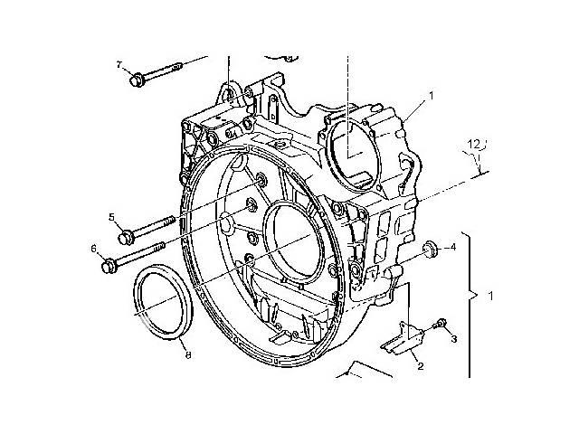 бу Б/у Детали двигателя Кожух маховика для АКПП, DXI 11 для Renault в Черновцах