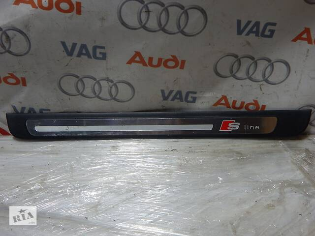 продам Б/У Накладка порога передняя левая S-Line AUDI A4 S4 8K0853373 бу в Самборе