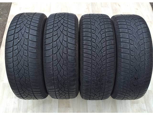 купить бу Б/в шини  205/60/16 Dunlop 3D 2x5мм 2х6,5мм протектор зимові в Львові