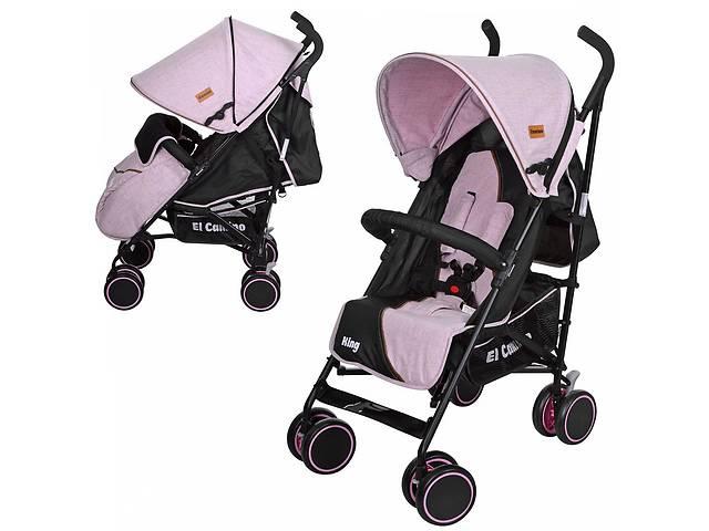 купить бу Детская прогулочная коляска-трость El Camino M 3427-8 King Розовый в Одессе