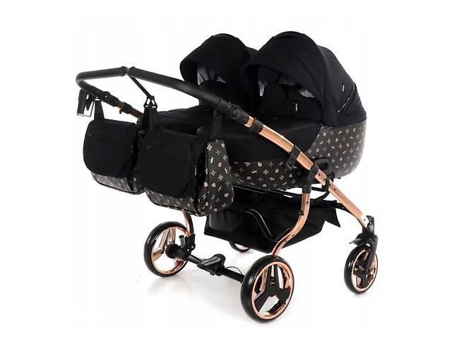 продам Универсальная коляска для двойни Tako Laret Imperial Duo 04 черная бу в Киеве