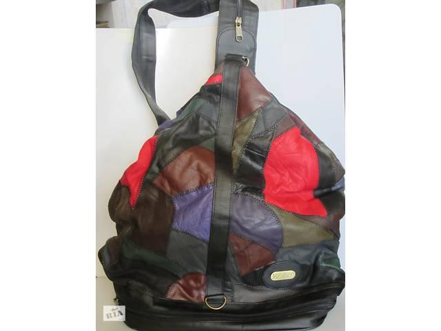 продам Кожаная сумка-рюкзак бу в Киеве