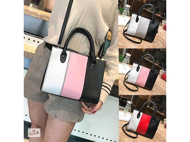 cdae084c1bfe купить бу Модна жіноча сумка зі стильними вставками в Хмельницькому