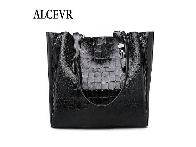 купить бу Сумка жіноча велика шоппер чорна шкіряна жіноча нова в Вінниці 381927a973f01