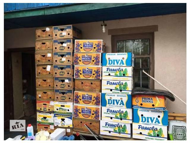 продам Банановая коробка со складов торговых сетей. бу  в Украине