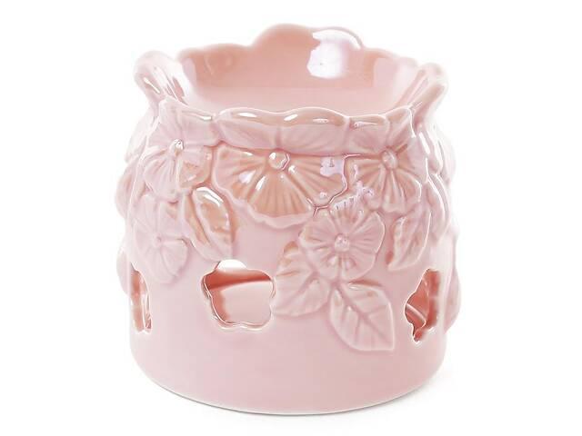 купить бу Аромалампа Незабудки 10.5см Розовый перламутр (psg_BD-727-130)  в Україні
