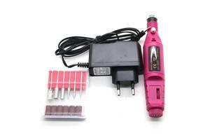 Машинка для полировки ногтей маникюра педикюра фрезер MM 300 Pink