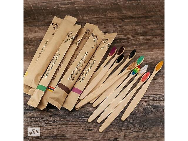 продам Набор бамбуковых зубных щеток 10 штук бу в Здолбунове