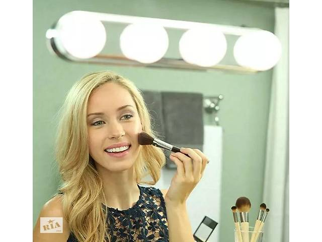 бу Подсветка на зеркало для макияжа, беспроводной светильник на зеркало Studio Glow 4 лампы металлик SKL11-241281 в Харькове