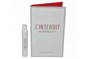 Пробники Givenchy L`INTERDIT 2019 Eau De Toilette 1ml