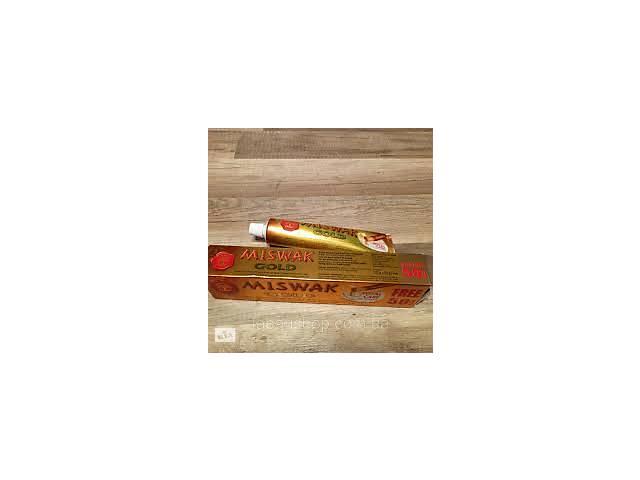 купить бу Зубная паста мисвак miswak gold 120 грамм + 50 грамм (большая упаковка) АКЦИЯ! в Черкассах