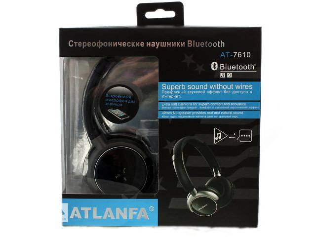 купить бу Бездротові Bluetooth-навушники Atlanfa Monster AT-7610 в Херсоні 83c6803898696