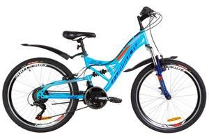 """Велосипед 24"""" Formula ATLAS AM2 14G Vbr St с крылом Pl 2019 (синий с оранжевым)"""