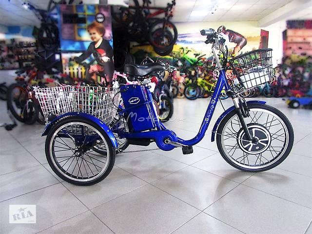 купить бу Электровелосипед трицикл Vega Happy, колесо 22, 350 Вт, 36 В, 2018, dark blue в Мукачево