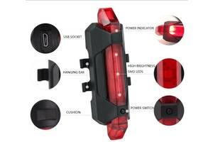 Фонарь габаритный задний BC-TL5411 5 светодиодов USB (красный)