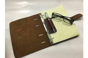 Блокнот из кожи формат А5 ручная работа с дополнительным блоком бумаги