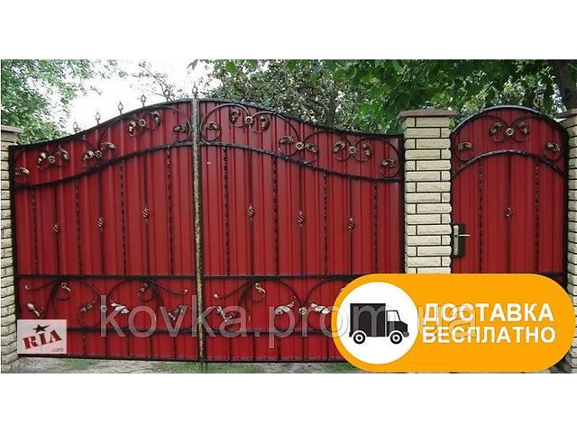 продам Ворота с коваными элементами и профнастилом, код: Р-0126 бу в Ладыжине
