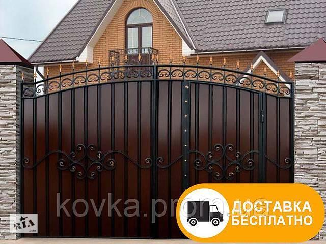 Ворота из профнастилом с встроенной калиткой, код: Р-0119- объявление о продаже  в Ладыжине