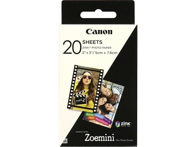 купить бу Фотобумага Canon ZINK Paper ZP-2030 20 SHEETS (3214C002) в Киеве