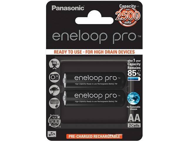 продам Аккумуляторы Panasonic EneloopPro AA/HR06 NI-MH 2500 mAh BL 2 шт бу в Харькове