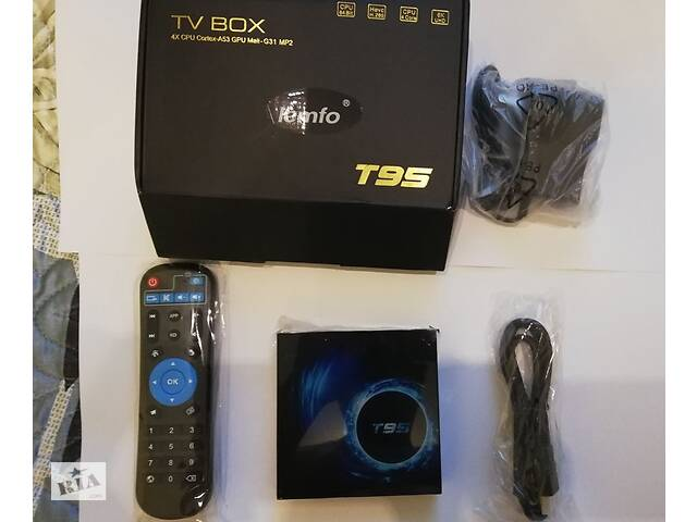 купить бу Андроид 10 IPTV приставка T95 4Gb/32Gb 6K X96 H96 в Чернигове