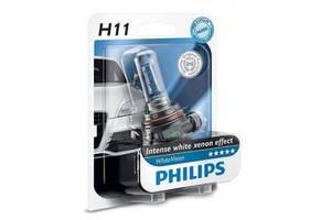 Автолампа PHILIPS H11 WhiteVision +60%, 3700K, 1шт (12362WHVB1)
