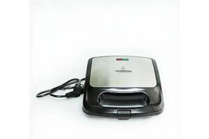 Cендвичница бутербродница Crownberg CB-1070 750W Black/Silver (112747)