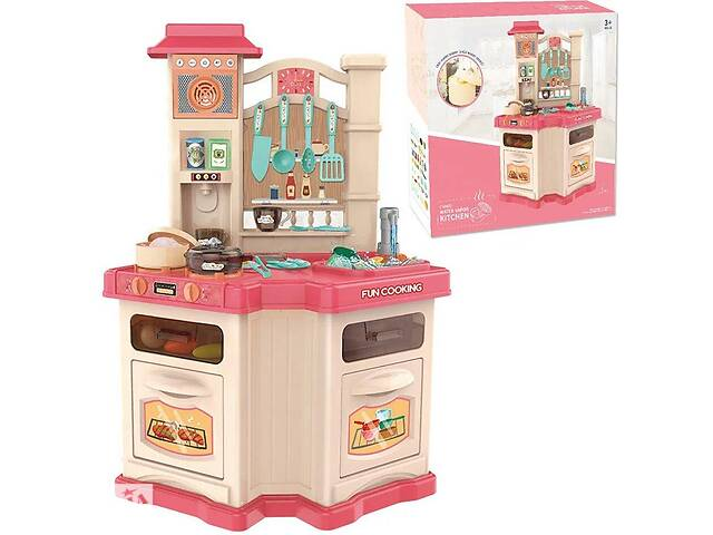 продам Детский игровой набор интерактивная кухня 848 В свет, звук, вода, пар, холодильник, вытяжка, посуда, продукты бу в Львове