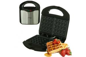 Електрична вафельница DOMOTEC MS-7705 для приготування бельгійських вафель з антипригарним покриттям 1000Вт