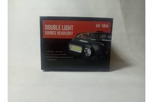 Фонарь KX-1804 на светодиодах COB +XPE налобный фонарик с USB зарядкой