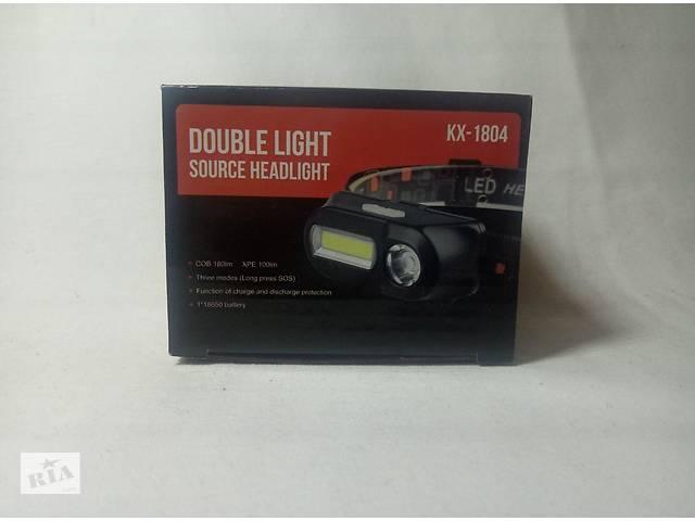 бу Ліхтар KX-1804 на світлодіодах COB + XPE налобний ліхтарик з USB зарядкою в Вінниці