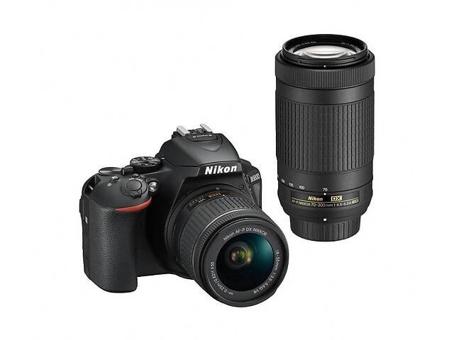 купить бу Фотоаппарат Nikon D5600 kit (18-55mm+70-300mm) в Харькове