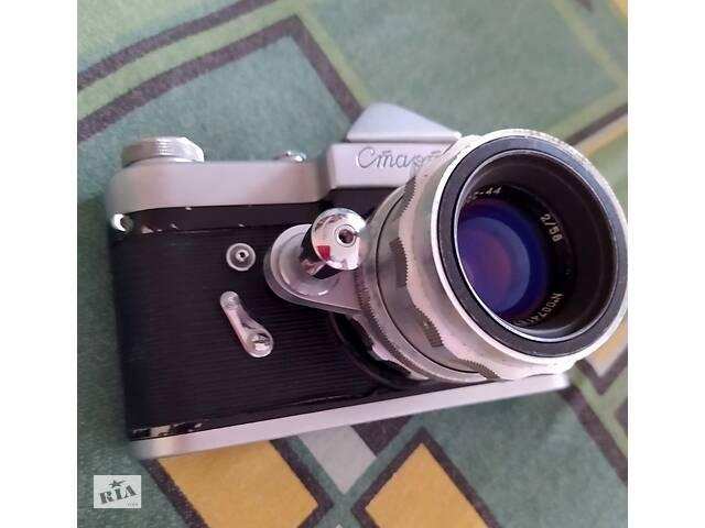 Фотоапарат Старт, об'єктив Геліос-44, експонометр Ленінград 2- объявление о продаже  в Києві