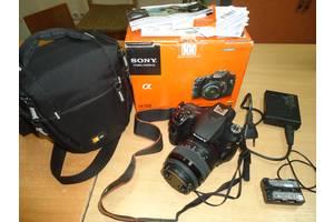 Фотоапарат дзеркальний Sony Alpha SLT-A58 з коробкою, сумкою.