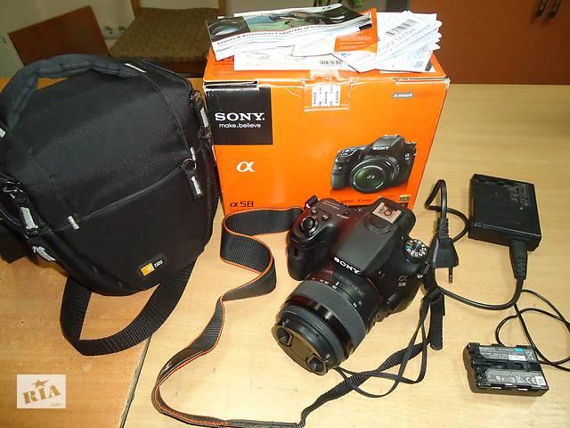 продам Фотоаппарат зеркальный Sony Alpha SLT-A58 с коробкой, сумкой. бу в Сумах