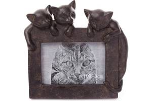 Фоторамка Три котенка 10х15см, искусственный камень (psg_BD-447-320)