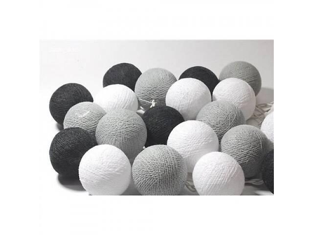 бу Гирлянда светодиодная Беспроводная GTM 20 шариков, 3,2 метра черный белый серый цвет (26654-FL) в Киеве