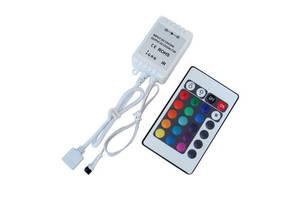 Контроллер с пультом ДУ 24 кнопки для RGB SMD 5050 LED ленты