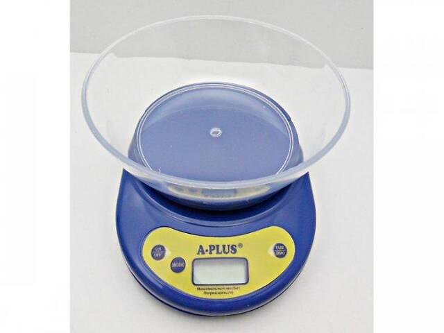 бу Кухонні настільні електронні ваги для зважування продуктів A-Plus 1 656 з чашею для будинку кухні до 5 кг в Харкові