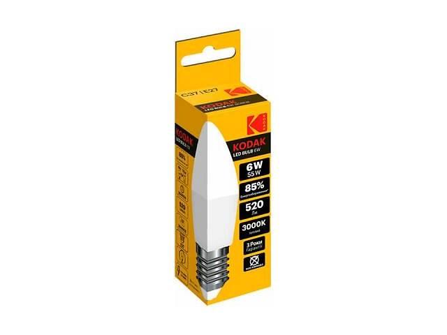 купить бу Лампочка Kodak C37 E27 6W 3000K (30415775/B-IK1) в Киеве