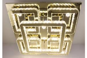 Люстра потолочная хрустальная Led с пультом C1787/800800-gd Золото 17х80х80 см.