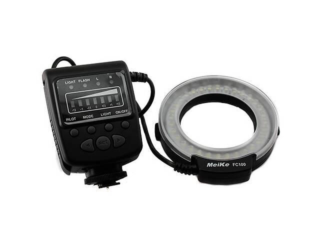 купить бу Макровспышка кольцевая Meike FC100 LED Canon Nikon  в Україні