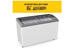 Морозильна скриня JUKA M 600 S, 7 кошиків, гнуте скло, підсвічування