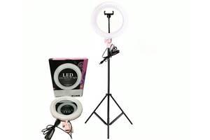 Набор блогера Кольцевая LED лампа с зеркалом + штатив Ring Light 26 см (RA-95)
