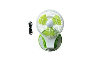 Настольный вентилятор HT 5580 с подсветкой Белый с зеленым