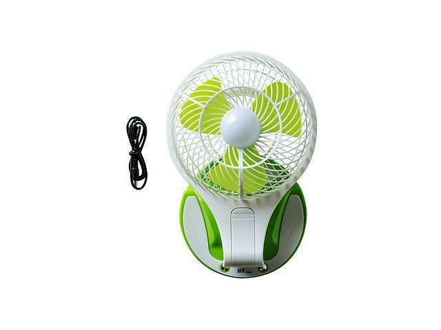 Настольный вентилятор HT 5580 с подсветкой Белый с зеленым- объявление о продаже  в Харькове