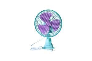 Настольный вентилятор Rainberg 9304 с прищепкой Голубой