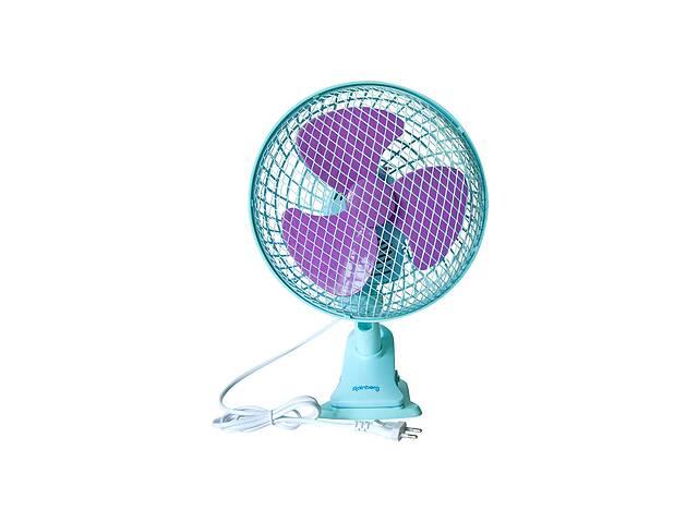 бу Настольный вентилятор Rainberg 9304 с прищепкой Голубой в Харькове
