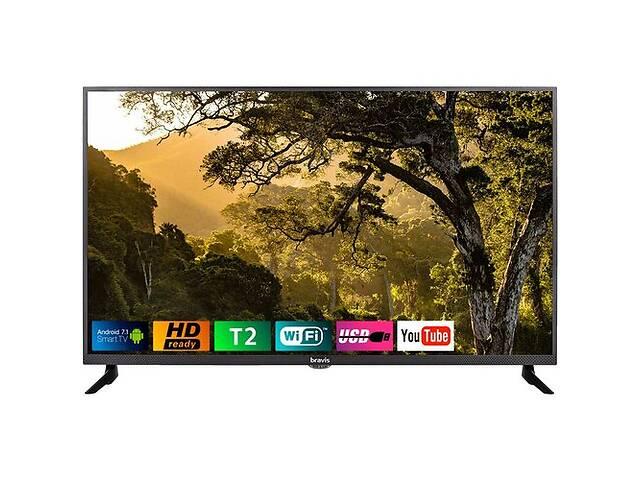 бу Новый Телевизор BRAVIS LED-32D5000 Smart + T2 в Золотоноше