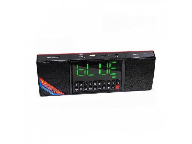 продам Портативная Bluetooth колонка Kronos WS-1515 BT Часы USB Радио Черная (par_ws-1515bt) бу в Киеве